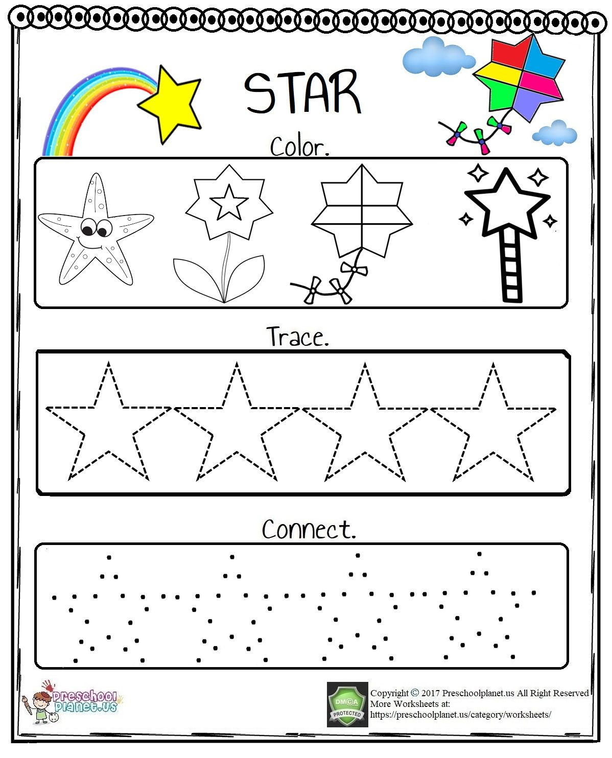 Star Worksheet In