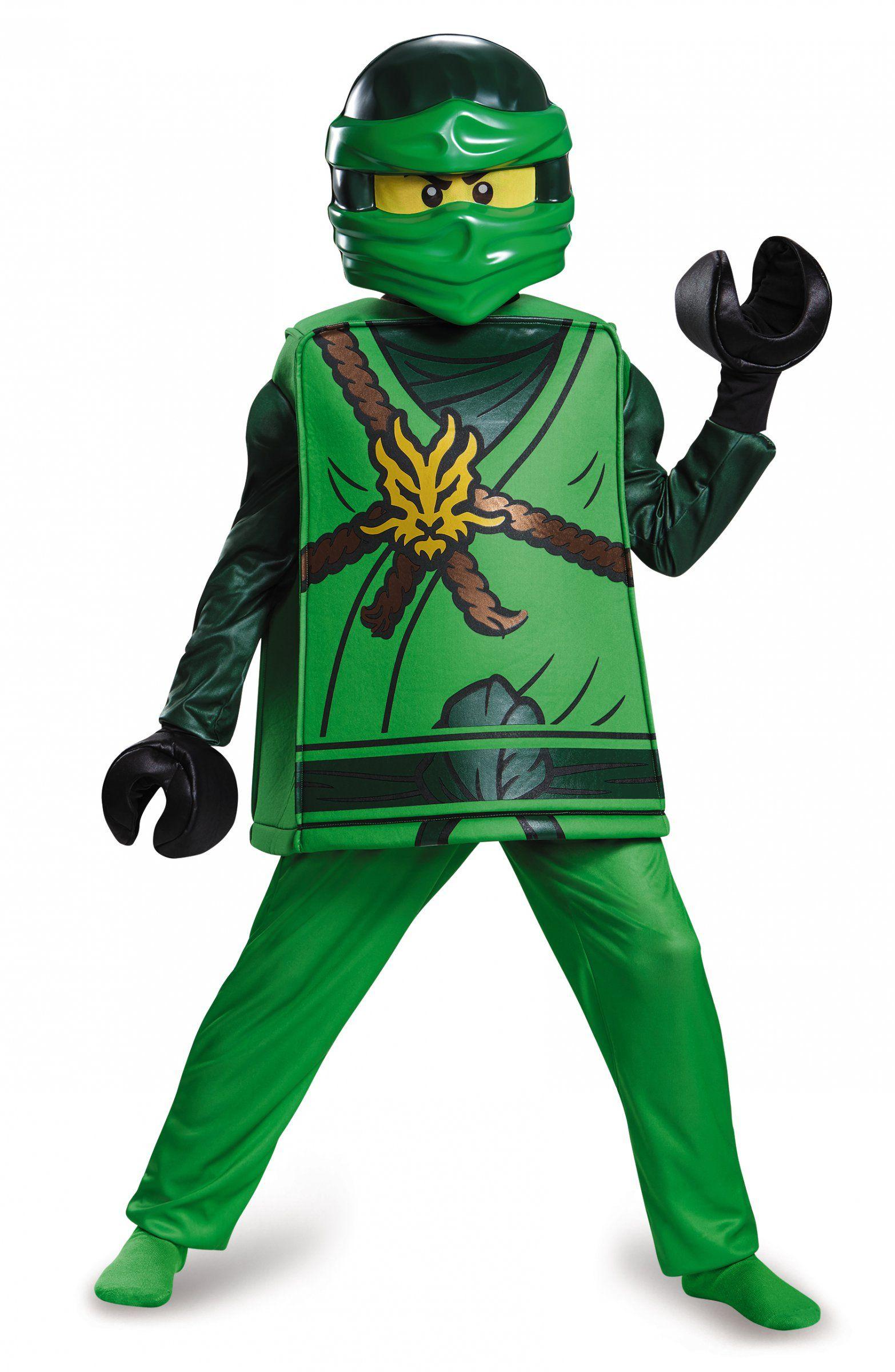 Lego® lloyd ninjago kinderkostüm ninja grün-schwarz | Karneval, Lego ...