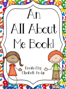 An All About Me Book! One book and 4 versions to choose from!!