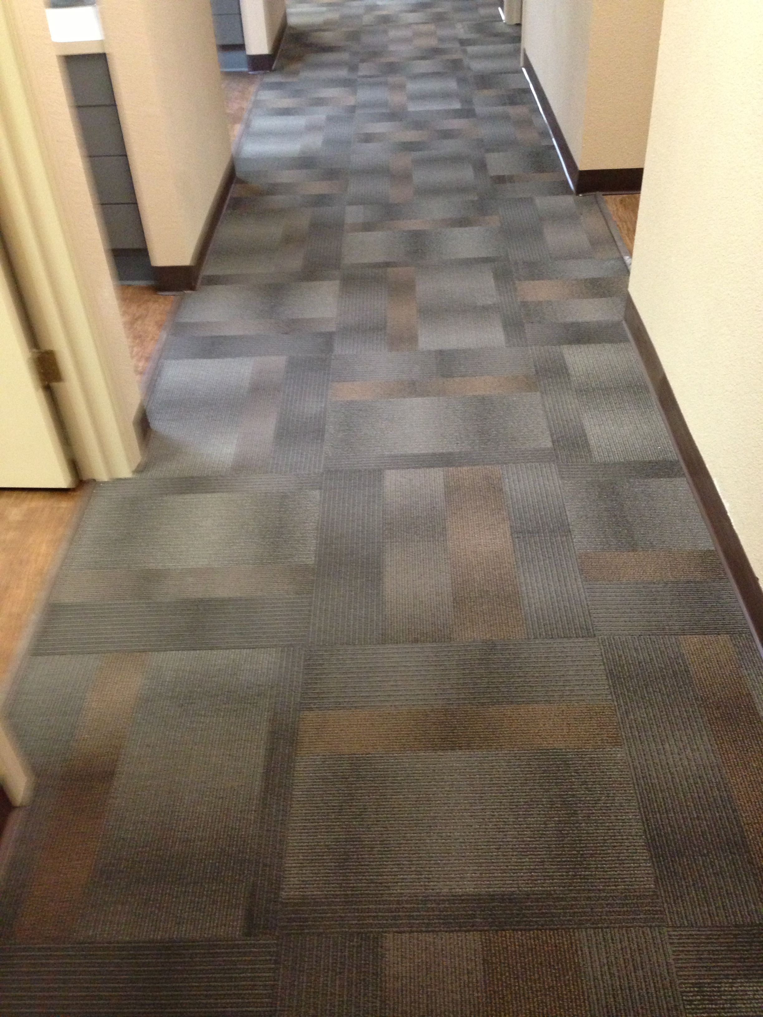 SHAW Eco-Works Sustainable Recyclable carpet tiles.