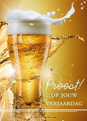 gefeliciteerd bier proost