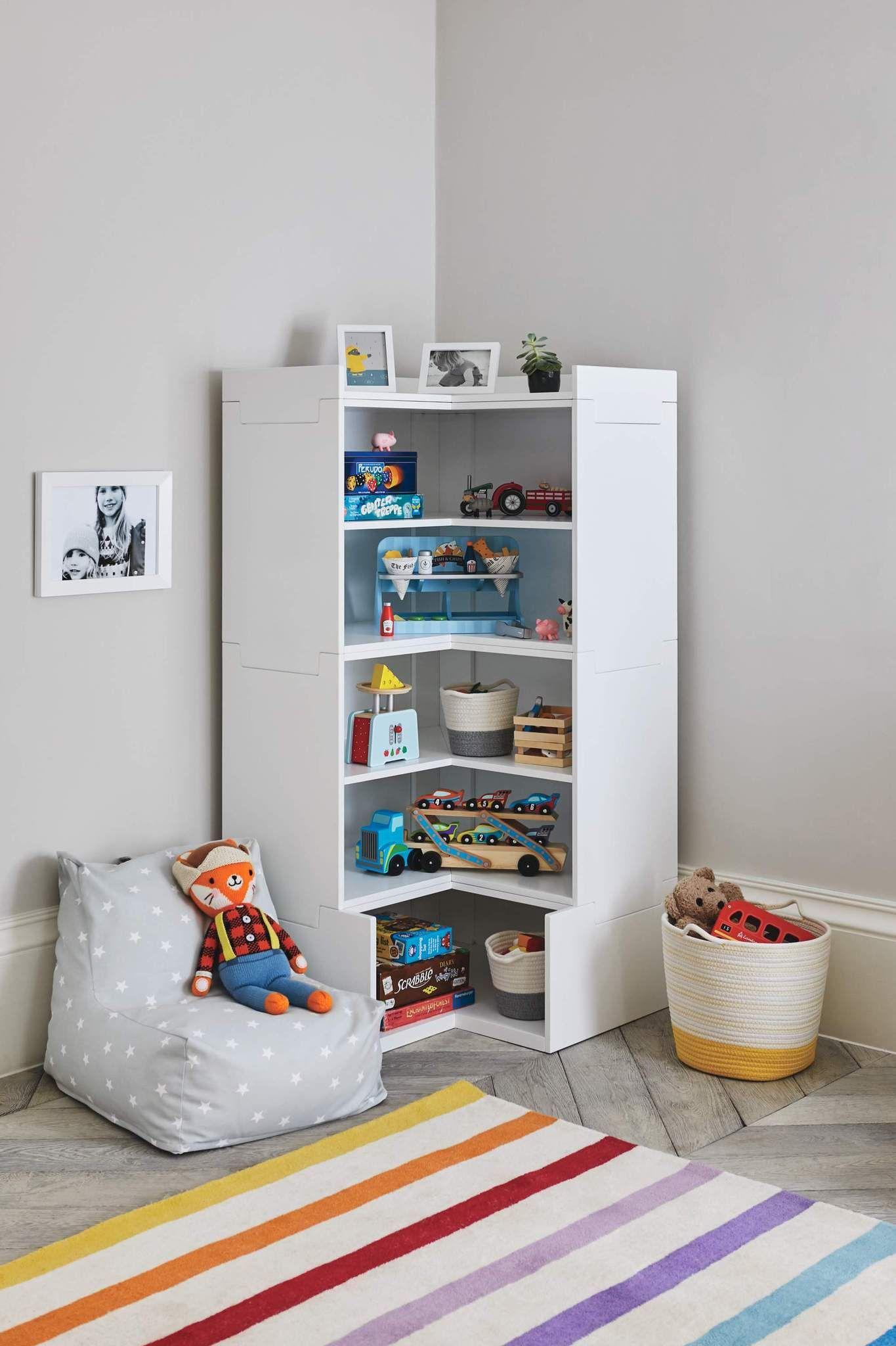 Meet Alba Stylish and stackable playroom storage