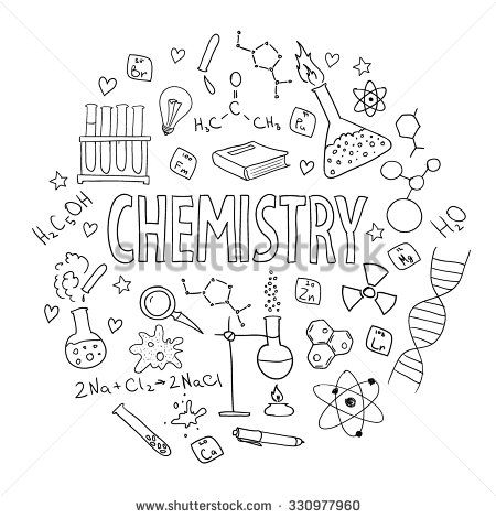 Hand drawn vector set with school equipment. Can be used