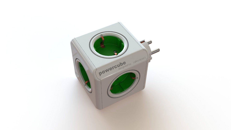 Allocacoc PowerCube   Enchufe De Red Con 5 Tomas, Verde: 13e O 15e En Leroy  Merlin