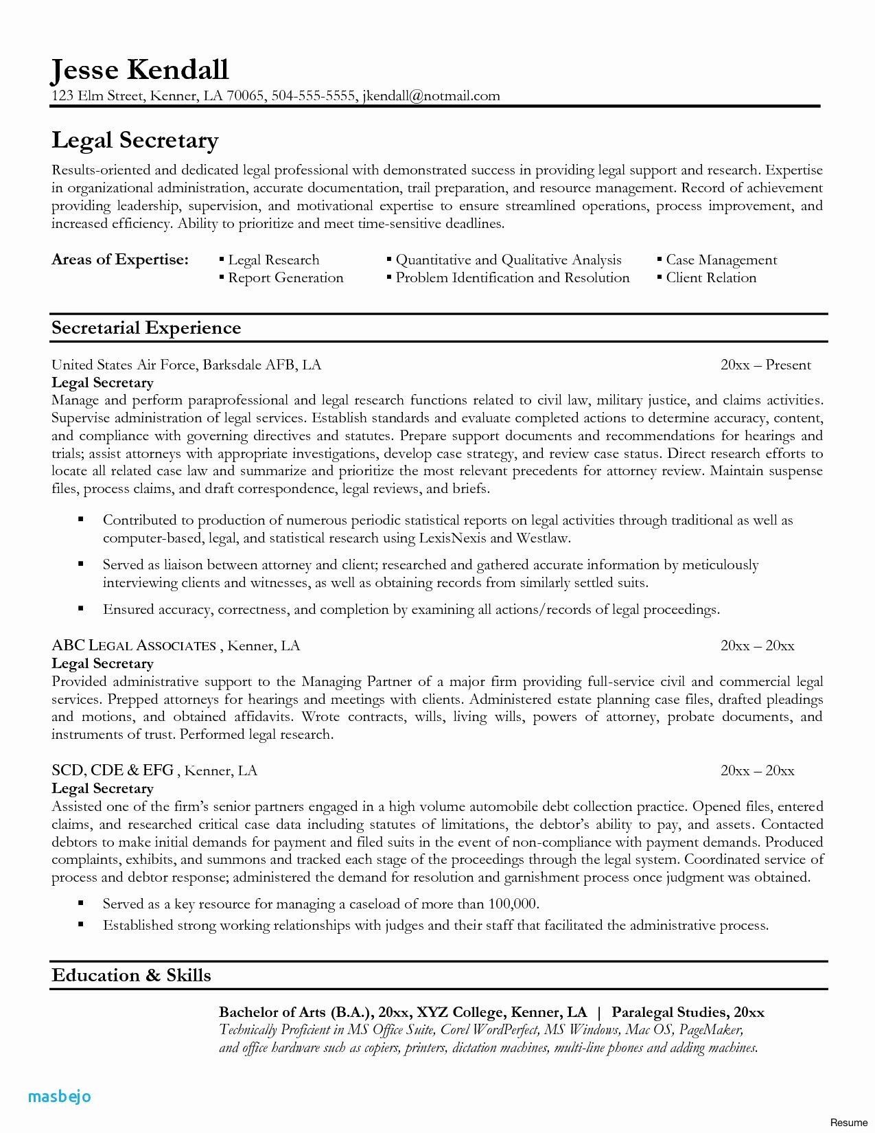B Com Resume Templates New Image Legal Resume Examples Law Student