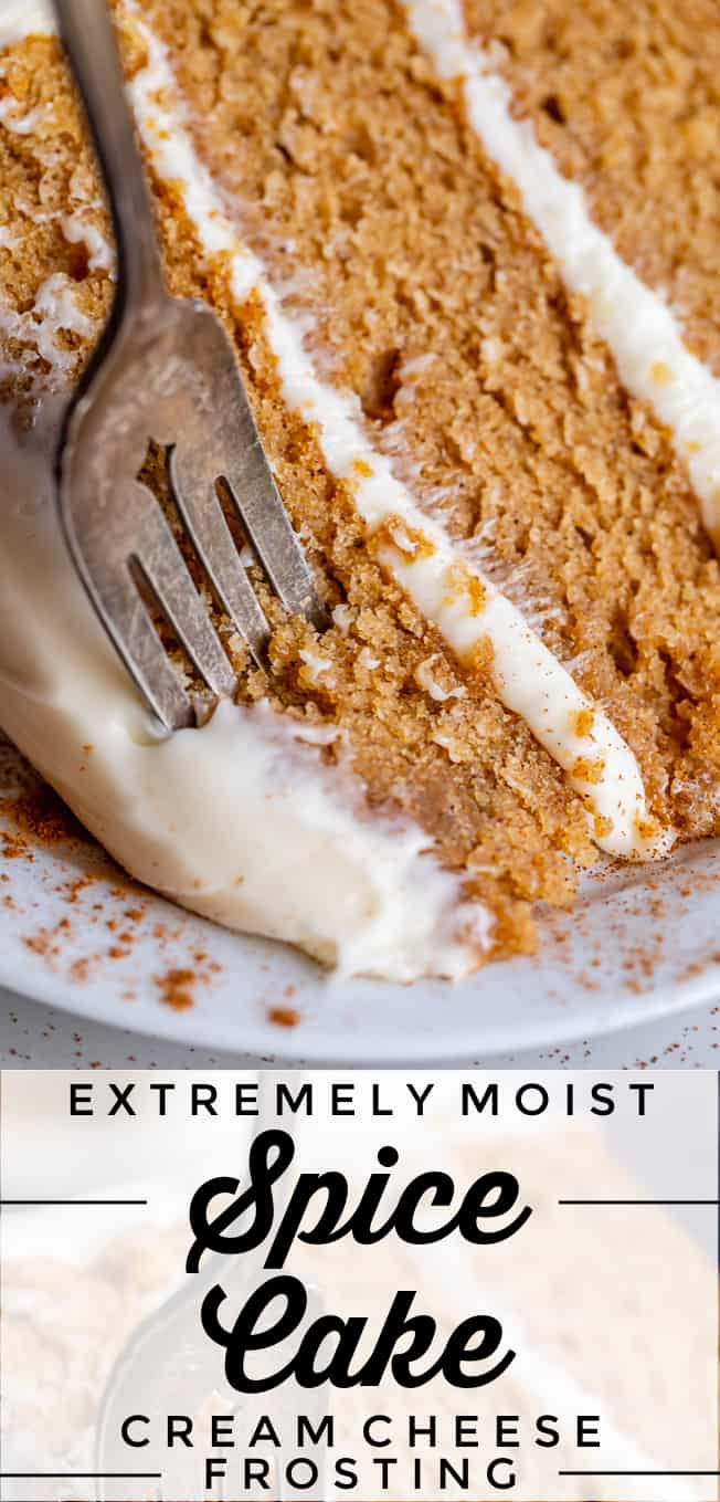 Homemade Spice Cake With Cream Cheese Frosting From The Food Charlatan The Best Homemade Spice Cake Is Bright In 2020 Moist Spice Cake Spice Cake Homemade Spice Cake