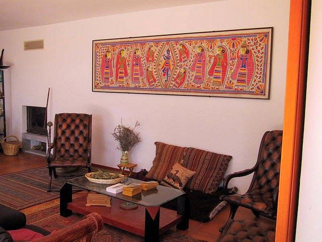 Traditional Indian Homes With Large Paintings Home Decor