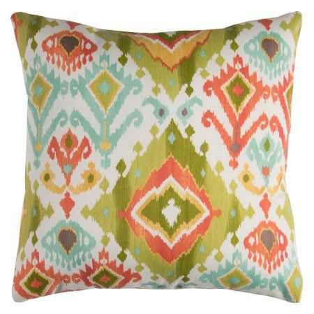 Rizzy Home Tfv072 22 Inch X 22 Inch Indoor Outdoor Pillow Green