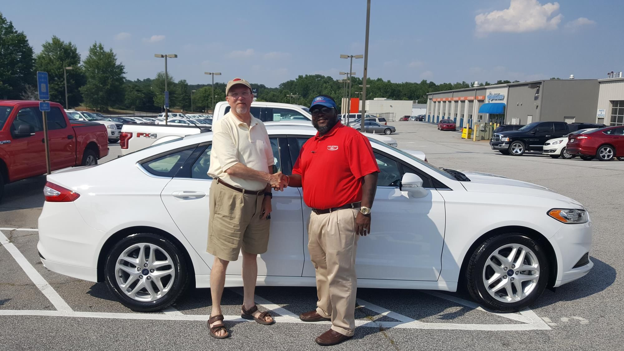 Jim Calhoun reviews the 2016 Ford Fusion he purchased from Courtesy