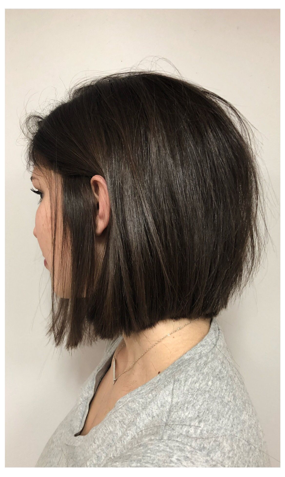 blunt bob with layers   mid cut in 2019   hair styles, hair