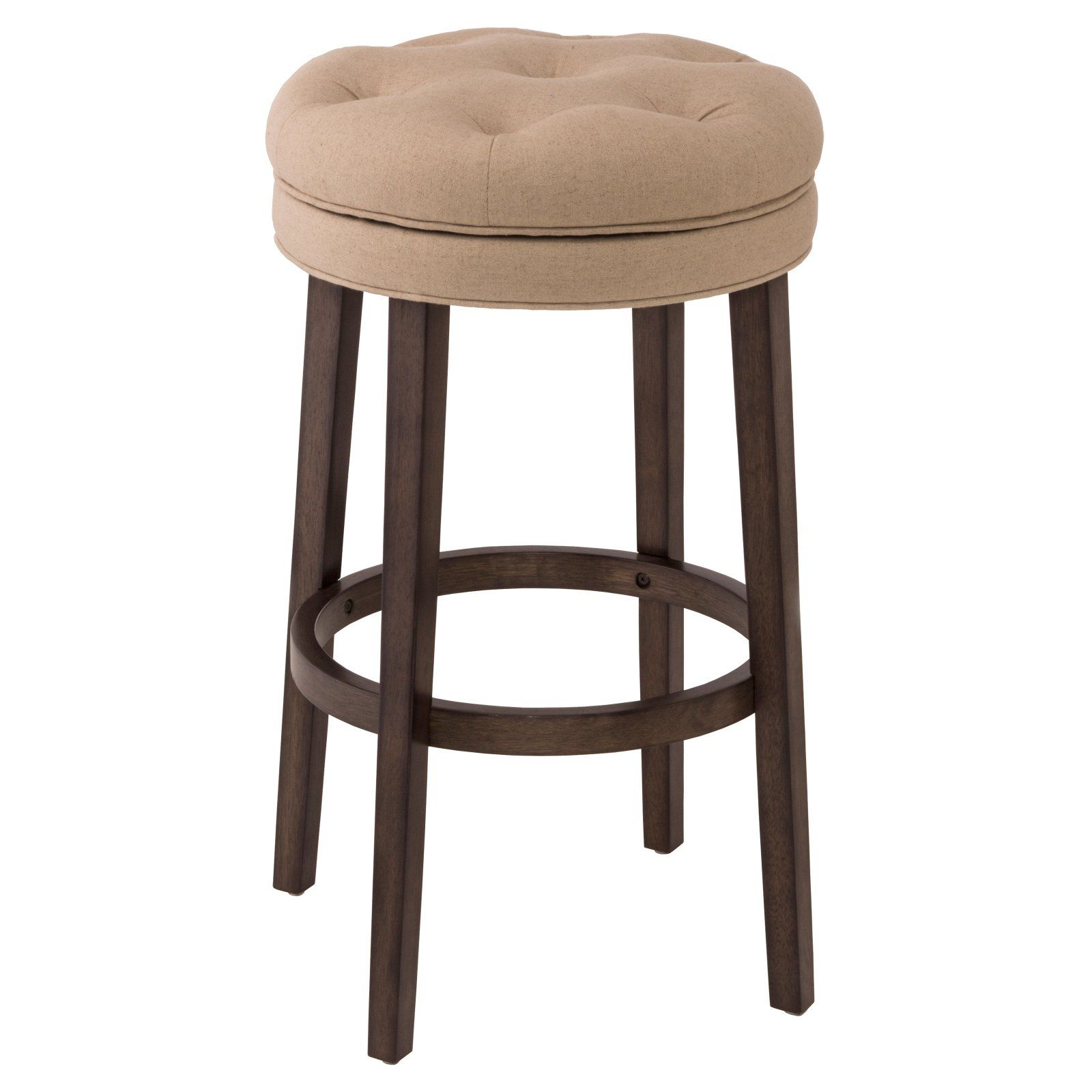 Fabric Counter Height Bar Stools Hillsdale Krauss Backless Swivel Counter Stool Linen Stone