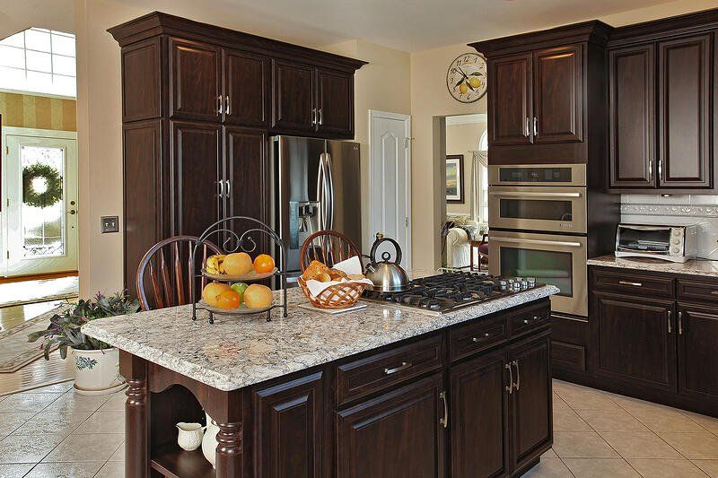 3 ways kitchen designs are using cherry cabinets and other dark woods in 2020 with images on kitchen ideas with dark cabinets id=19174