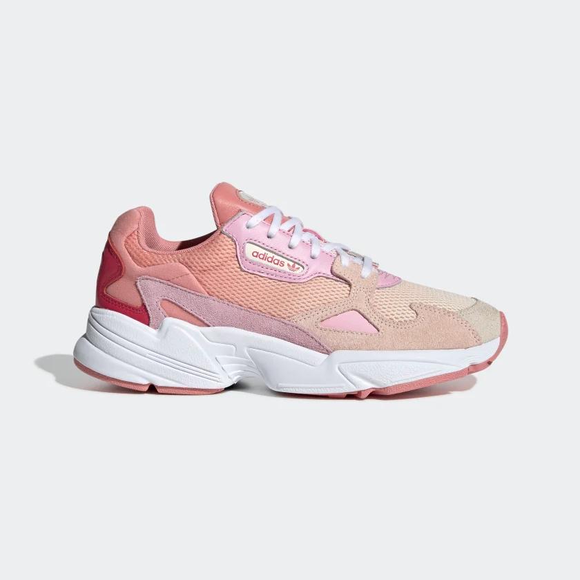 Humano grieta Alérgico  adidas Falcon Shoes - Beige | adidas US | Pink sneakers, Adidas originals  women, Pink adidas