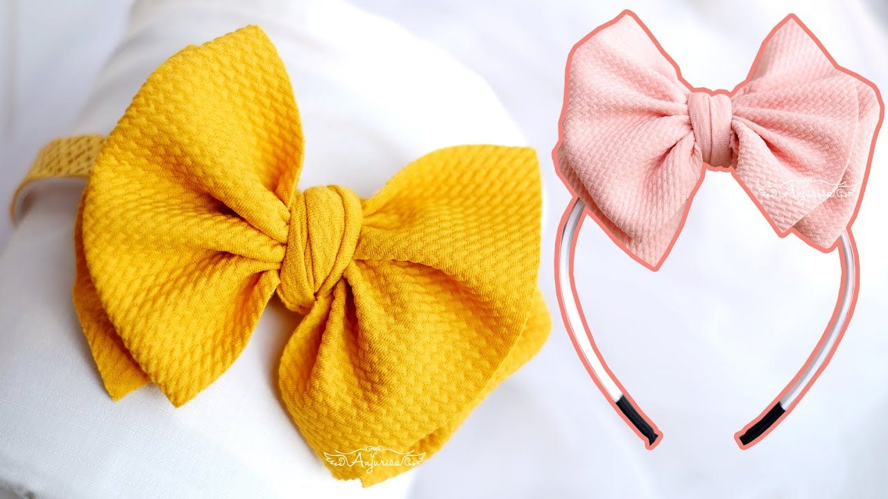DOUBLE NO FLAP BOW Tutorial - How to Tie a Bullet Fabric Bow