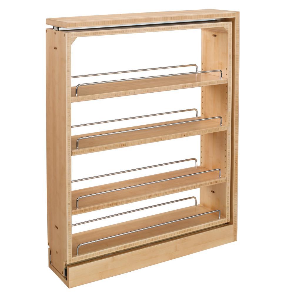 Rev A Shelf 30 In H X 6 In W X 23 In D Pull Out Between Cabinet Base Filler 432 Bf 6c The Home Depot In 2020 Rev A Shelf Wooden Spice Rack Base Cabinets