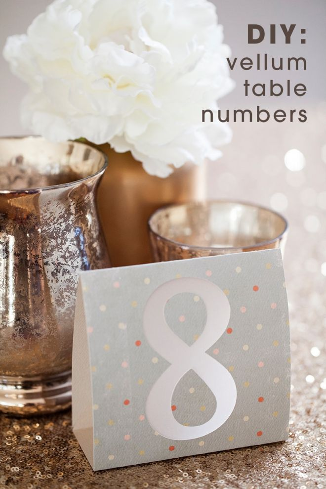 Diy Wedding How To Make Simple Table Numbers Using The Cricut Explore