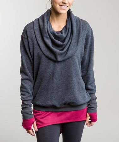 Love this Dark Flint Phoebe Cowl Neck Sweater on #zulily! #zulilyfinds