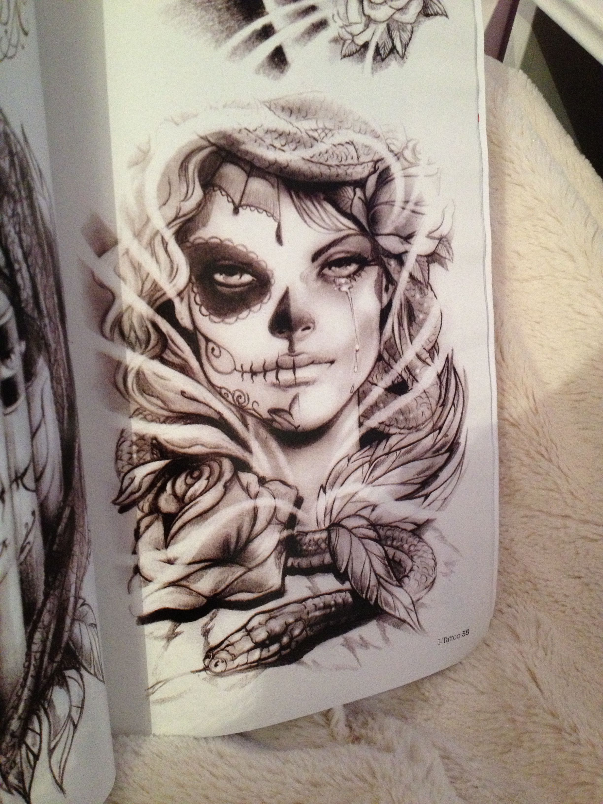 Day of the dead mexican girl tattoo ideas pinterest for Mexican girl tattoos