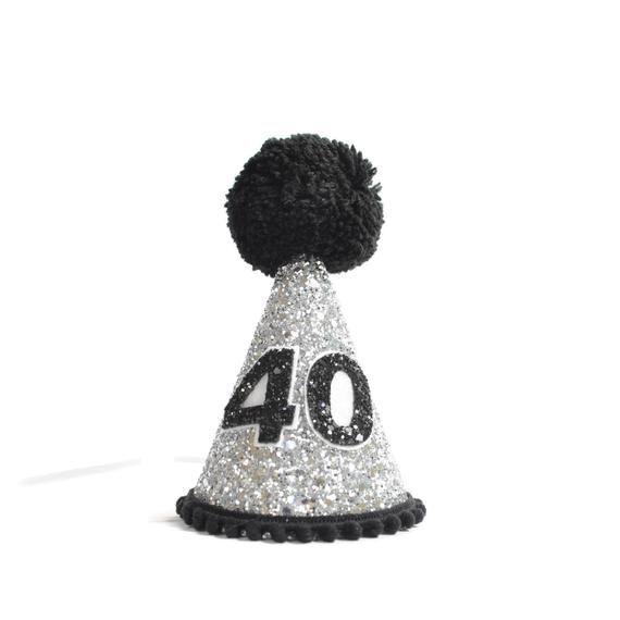 40th Birthday Hat Fortieth Over The Hill Adult Crown Little Blue Olive