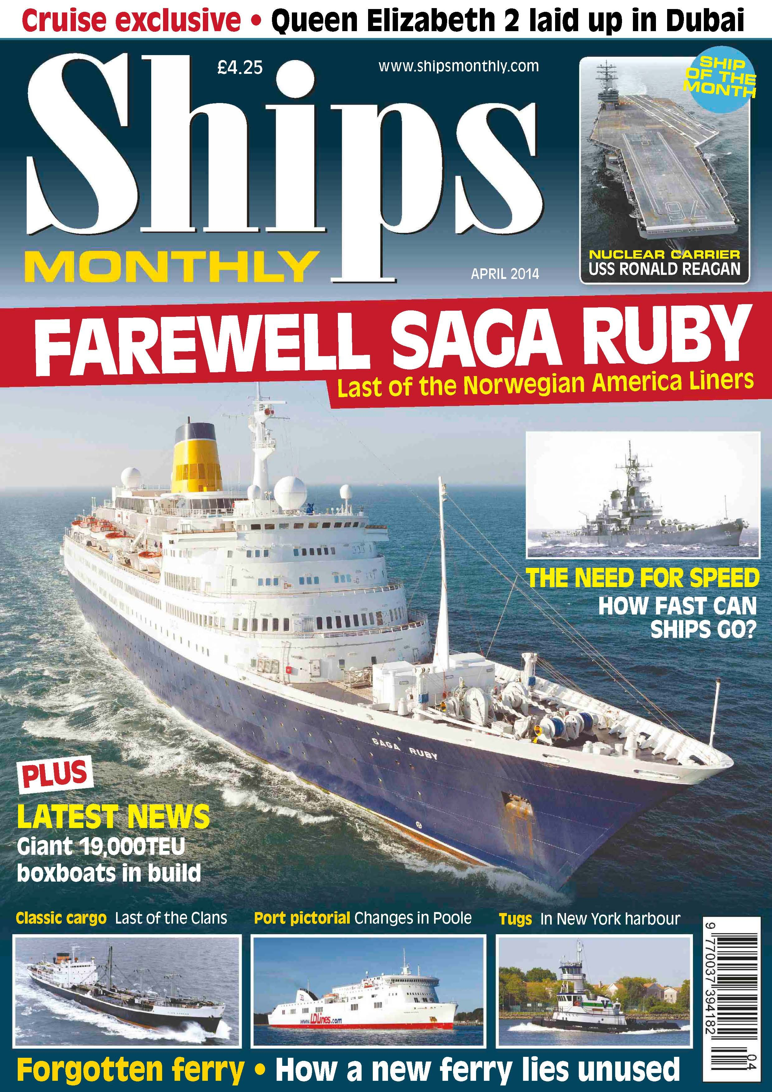 Ships Monthly April Farewell Saga Ruby And The Need For - How many mph does a cruise ship go