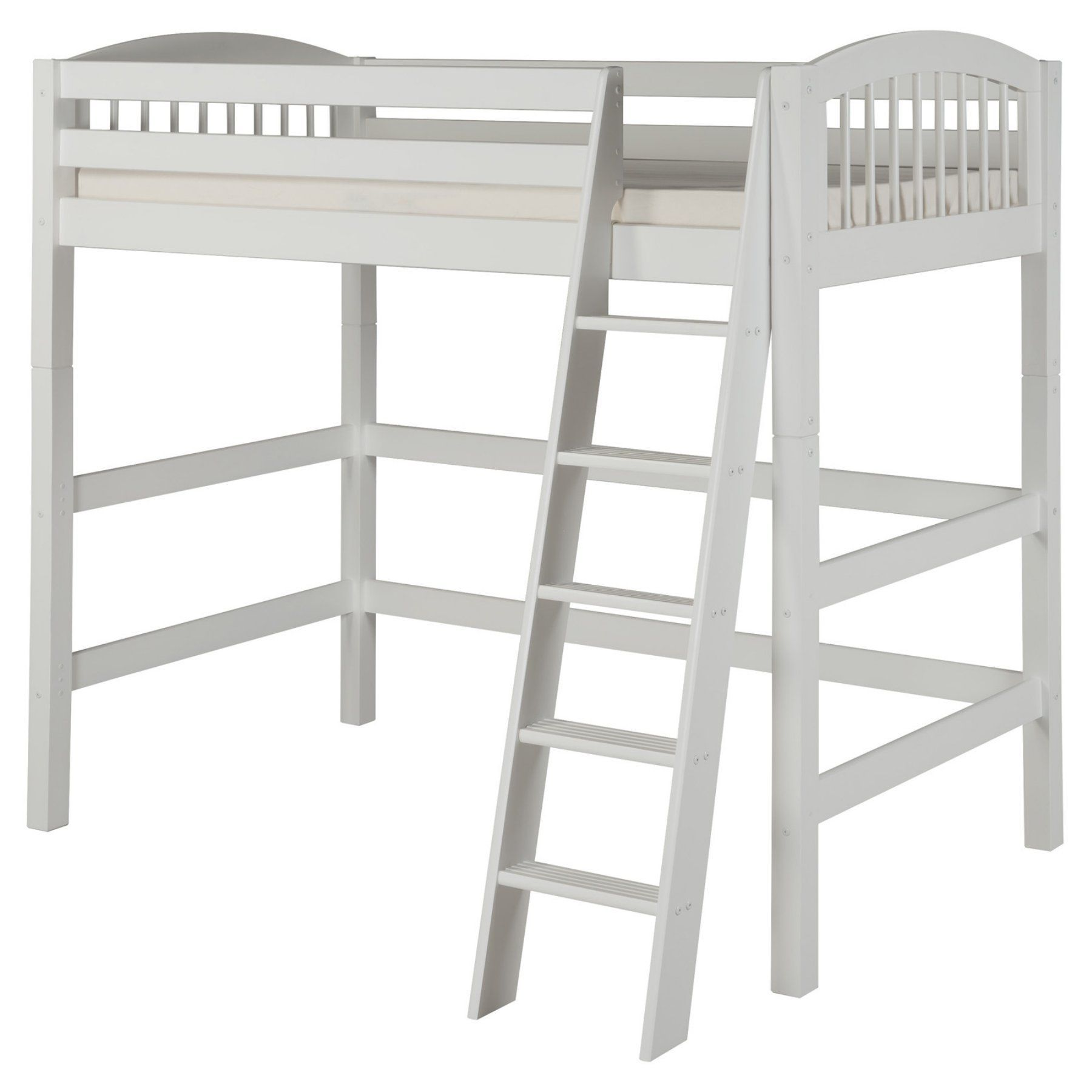 High loft bed with stairs  Camaflexi Arch Spindle Headboard High Loft Bed  CCP  Products