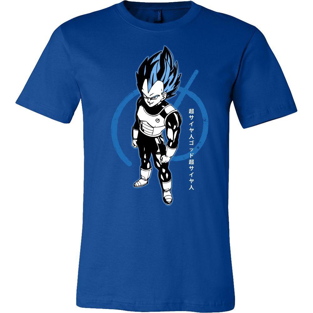 Super Saiyan Blue Vegeta God Men Short Sleeve T Shirt - TL00016SS