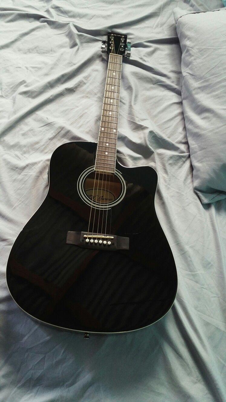 Black Acoustic Guitar Black Acoustic Guitar Guitar Guitar Photography