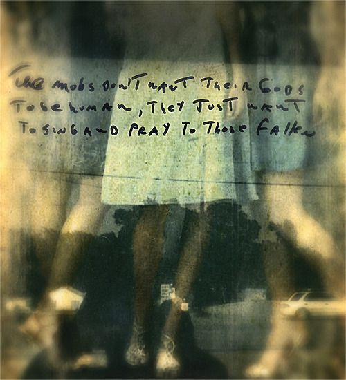 """three sisters/ """"the mobs don't want their gods to be human""""/ jack barnosky"""