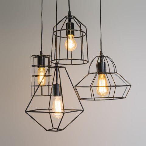 Hanglamp Frame A zwart #qazqa #frame #industrialdesign   Frame it ...