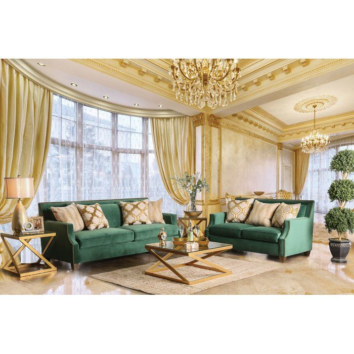 26 Relaxing Green Living Room Ideas: Ramage Configurable Living Room Set