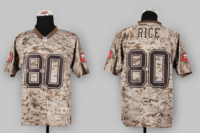 e9a3d71e410 ... Mens Nike San Francisco 49ers 80 Jerry Rice New Elite Camo USMC NFL  Stitched Jersey Nike 49ers 7 Colin Kaepernick ...