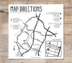 wedding postcard invite with map and directions singapore - google, Birthday invitations