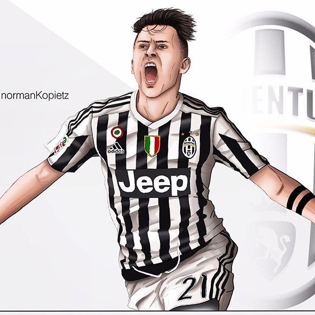 NormanKopietz Paulo Dybala Comic Drawing Paulodybala Juventus Turin Juve