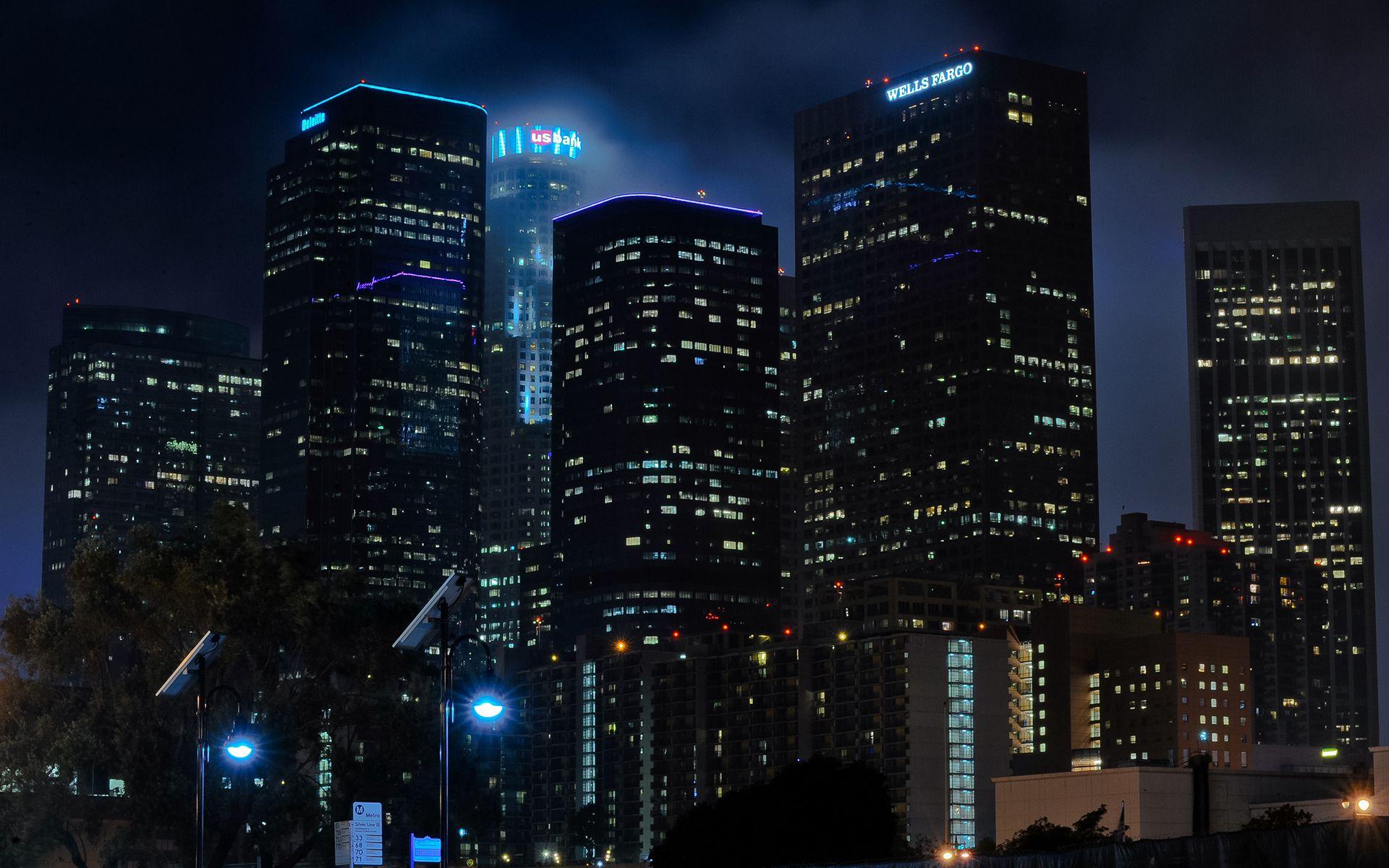 Картинки, картинки красивые небоскребы ночью