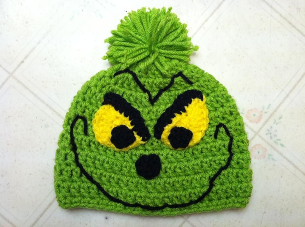Christmas Grinch Hat By 7one7 Designs Crocheting Pattern