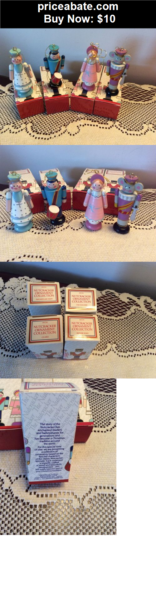 Collectibles: Vintage Avon Nutcracker Ornaments Lot of 4 Christmas w/ Boxes - BUY IT NOW ONLY $10