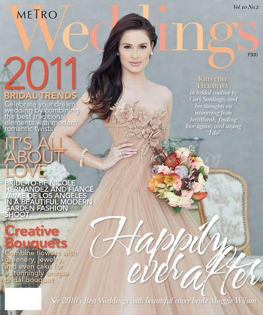 Kristine Hermosa on the cover of Metro Weddings | Fashion | Pinterest