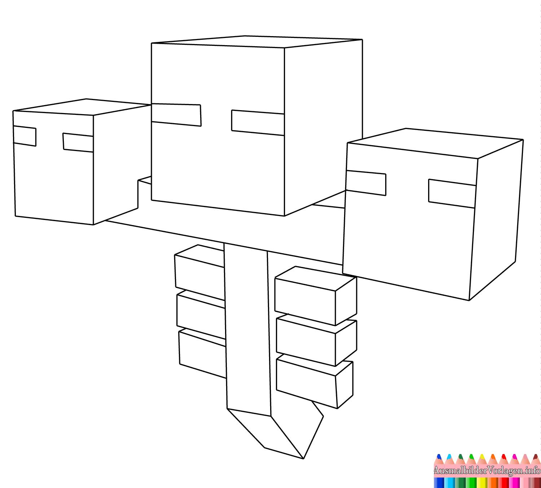 Minecraft Wither Ausmalbilder Kleurplaten Kleurplaten Voor Kinderen Kleurboek