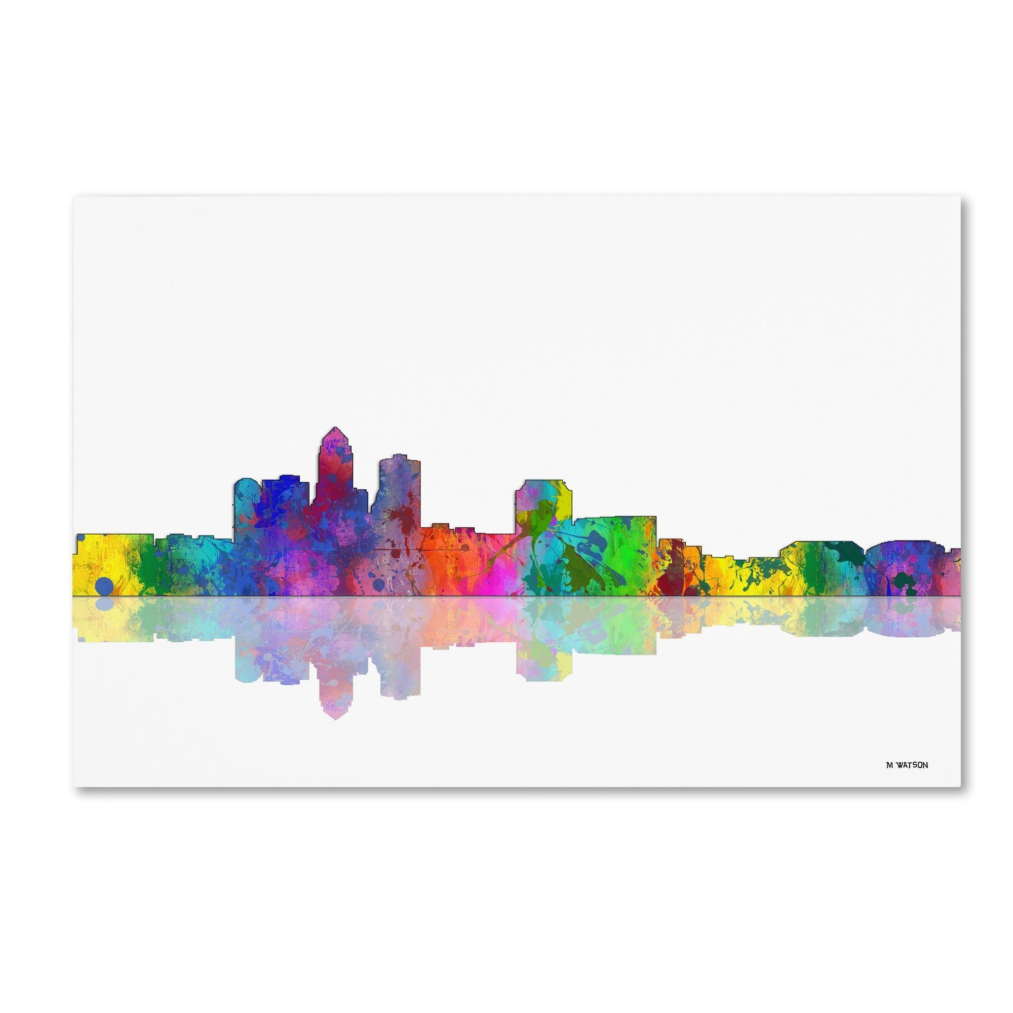 'Des Moines Iowa' by Marlene Watson Painting Print on Wrapped Canvas
