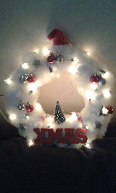 kerstkrans met verlichting