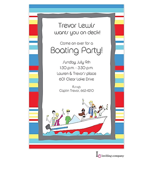 boat party welcome home party invitations – Welcome Party Invitation Cards