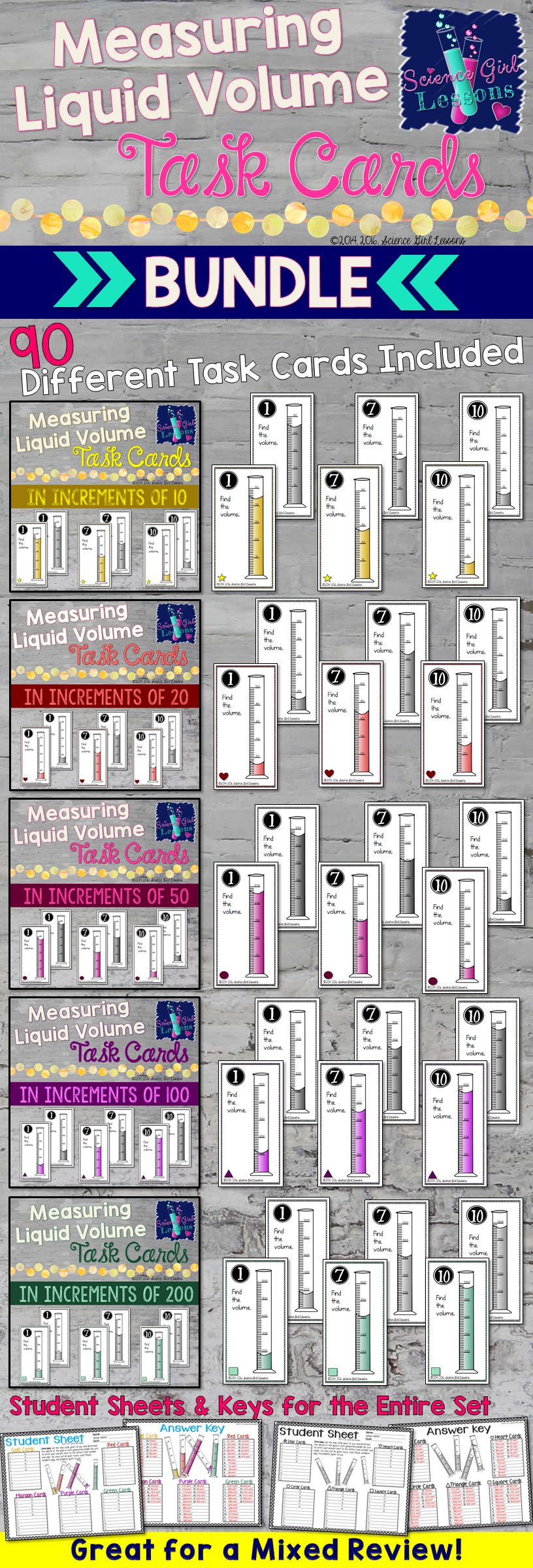 These Task Cards Will Help Students Understand How To Measure The Volume Of A Liquid Using A Graduated Cylinder T Task Cards Graduated Cylinders Liquid Volume [ 2400 x 816 Pixel ]