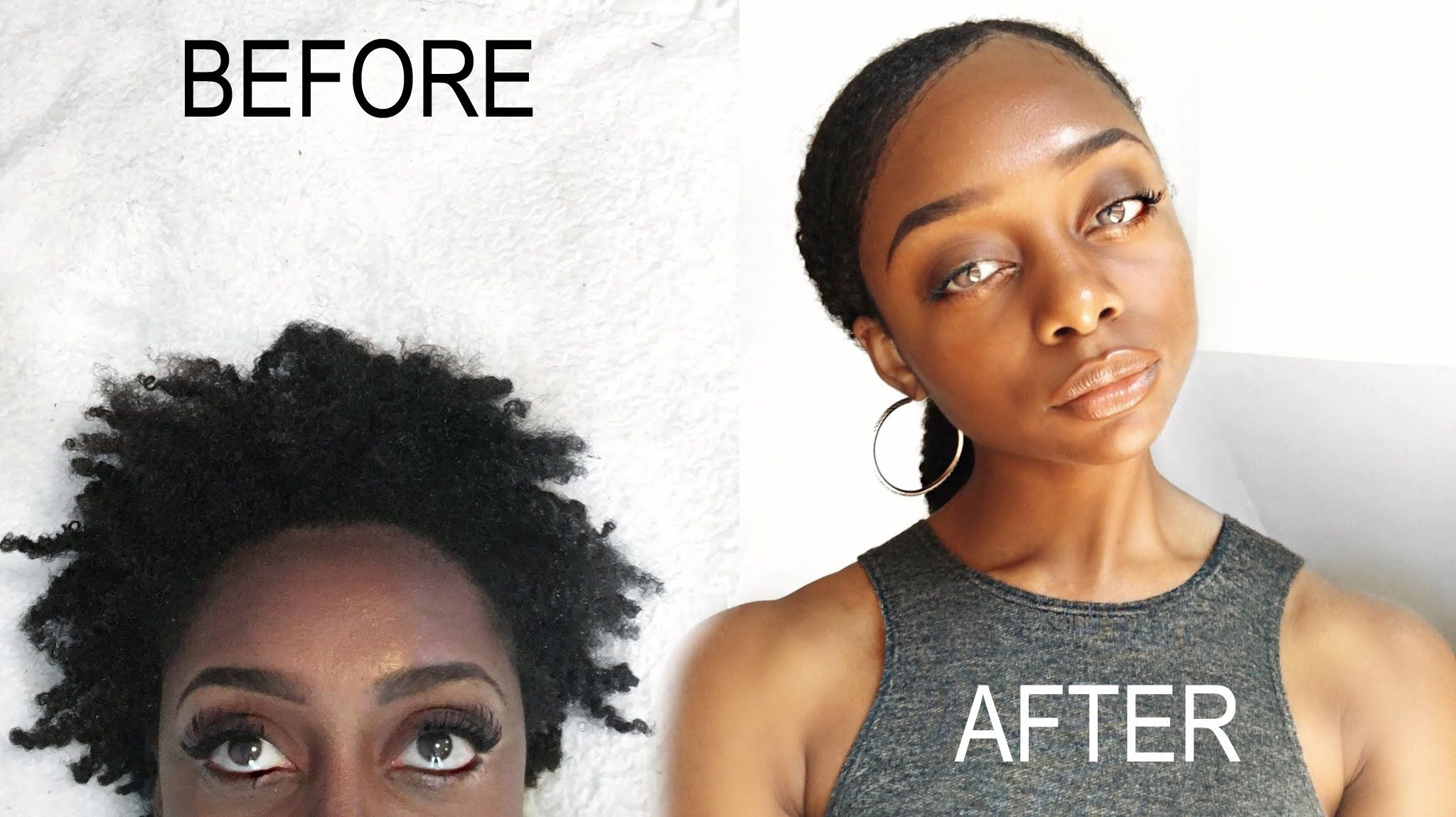 how to: sleek low pony tail on short 4b/4c natural hair