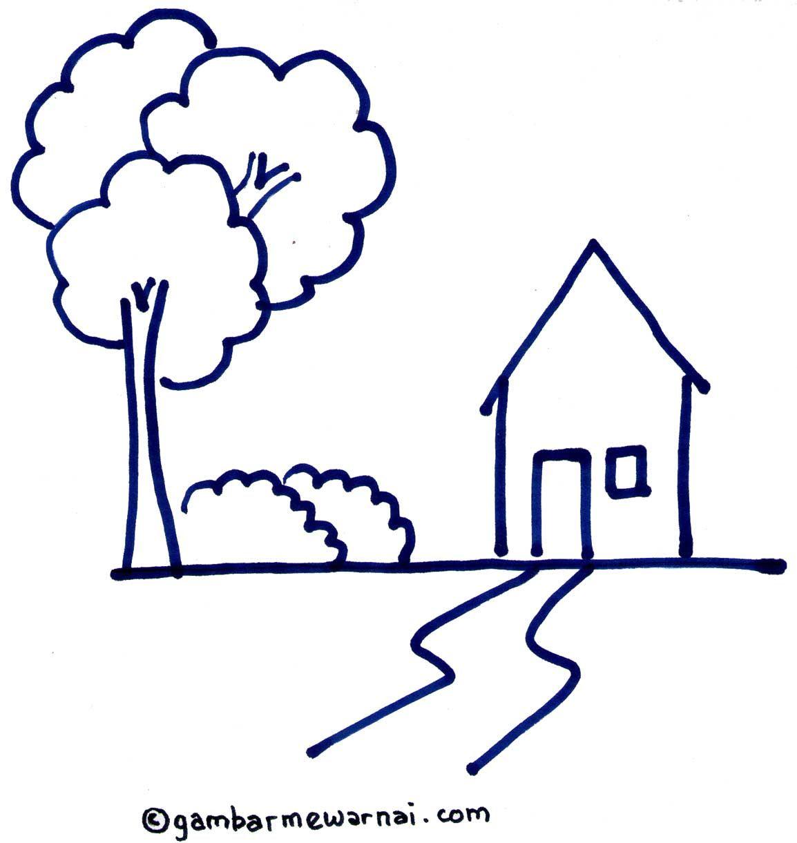 Gambar Sketsa Rumah Adat