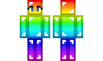 Minecraft Skin RainbownoobGirl Check Out Our YouTube Httpswww - Descargar skins para minecraft pe noob