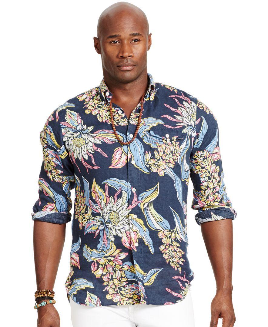And ShirtProducts Polo Lauren Big Tropical Linen Ralph Tall vmnwOy8N0