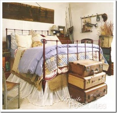 Decorating An Old Farmhouse | Old Fashioned Farmhouse: Decorating With  Suitcases