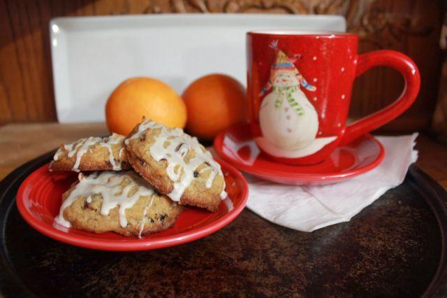 Cranberry Orange Coconut Cookies with Whiskey Glaze | saraheatsaustin
