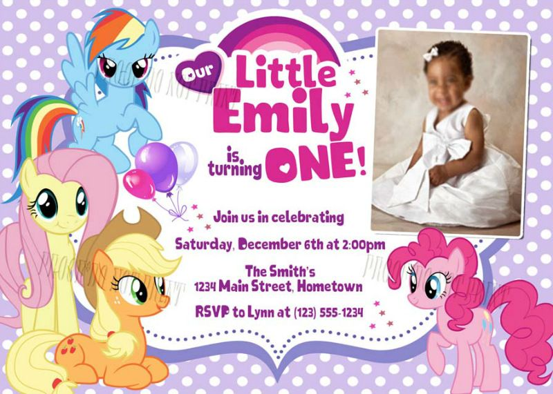 Personalized Photo Invitations Cmartistry Personalized My Little Pony Birthday Photo Party My Little Pony Birthday Pony Birthday Little Pony Birthday Party