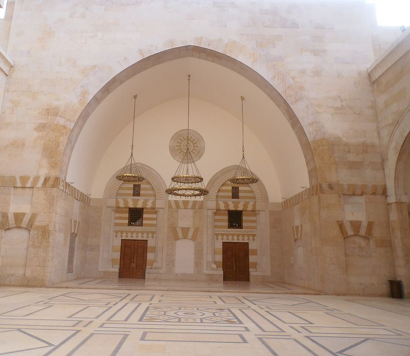Entering The Halls Of King Hussein's Mosque